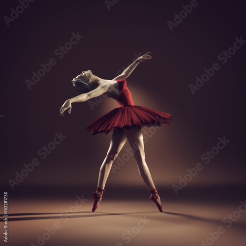 Young and beautiful ballerina - 162281730