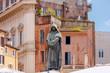 Quadro Rome. Monument to Giordano Bruno.