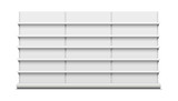 White empty vector store shelves. - 162283361