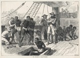 Scene on board a slave ship. Date: circa 1830