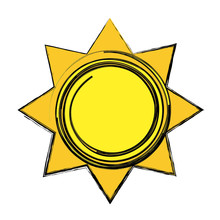 Sun Tropical Hot Climate Image  Illustration Sticker