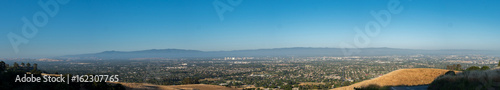 Wide Angle View of Silicon Valley, San Jose, CA