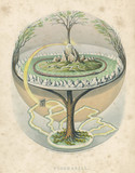Yggdrasil  the Tree of Life in Norse mythology. Date: 1847 - 162311303