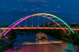 General Jackson Showboat passing under Rainbow Bridge