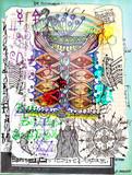 Manoscritti misteriosi con disegni,tarocchi,ritagli e collage esoterici,astrologici e alchemici - 162319338