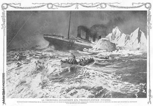 In de dag Schipbreuk Shipwreck - Titanic. Date: 1912