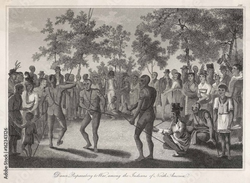 Poster Racial Types - War Dance - 1810. Date: 1810