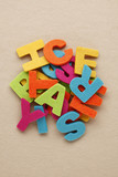 Letters of alphabet made from felt fabric