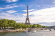 Summer Paris view with Eiffel tower