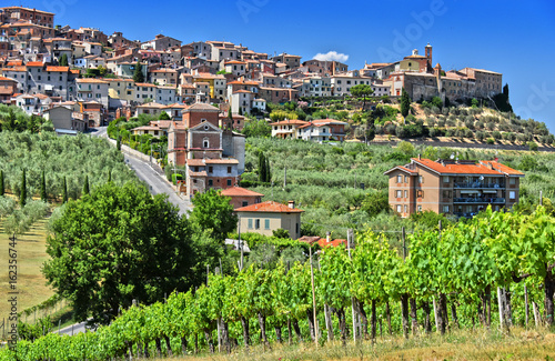 Deurstickers Toscane City of Chianciano Terme in Tuscany, Italy