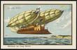 Futuristic long distance airship. Date: 1899