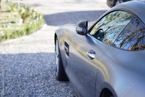 Plakat Silhouette eines Sportwagens