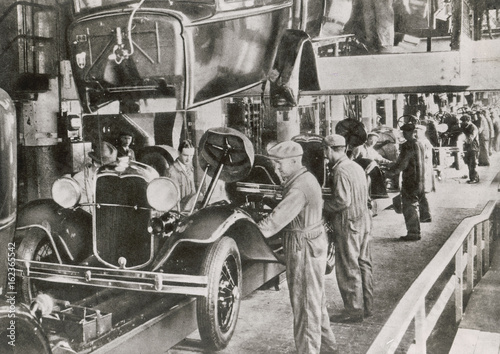 Ford Assembly Line 1929. Date: 1929 Poster