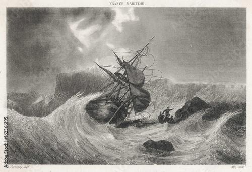 Aluminium Schipbreuk Shipwreck - Cherbourg. Date: 17 th Century
