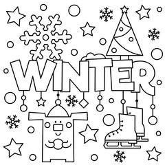 Black and white vector illustration. Coloring page.