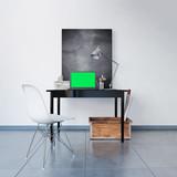 3D Visualisierung eines Laptop-Arbeitsplatzes für Designer