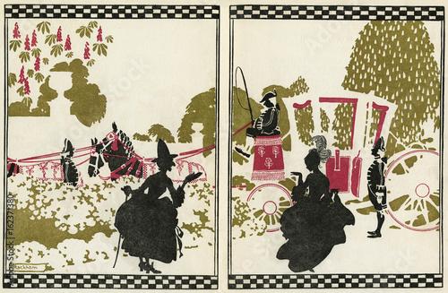 Plakat Cinderella  with her fairy godmother