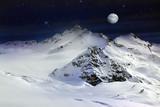 Elbrus Mount with moon - 162377550