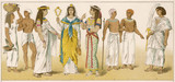 Various Egyptian Costume. Date: circa 3000 BC - 162381934