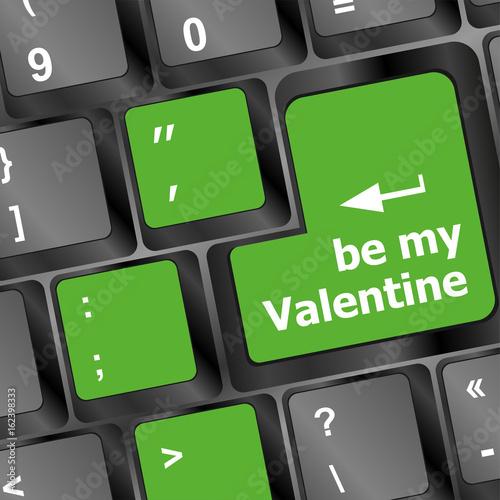Computer keyboard key - Be my Valentine Poster