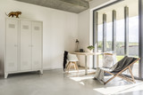 Minimalistic home office - 162404910