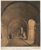Thames Tunnel - Interior. Date: 1843