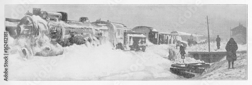Orient Express - in Snow. Date: 1929 © Archivist