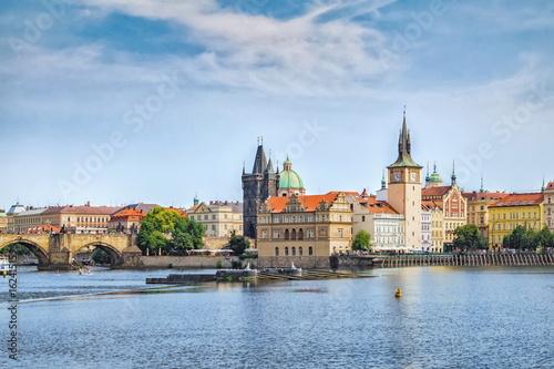 Foto op Canvas Praag View of Prague and Vltava river in summer.Czech Republic