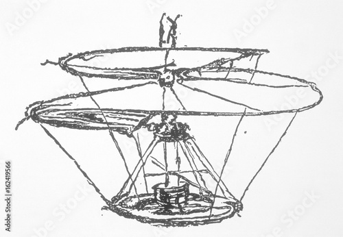 Leonardo Helicopter. Date: circa 1500