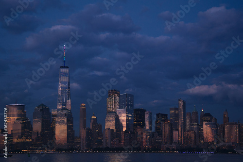 NYC skyline at sunset Poster