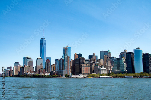 New York skyline and Lower Manhattan, United States Poster