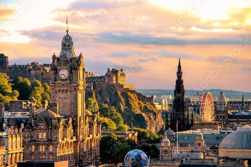 Edinburgh skyline, Scotland Poster