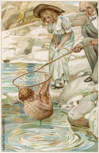 Water Babies - Tom Caught. Date: 1863 Poster