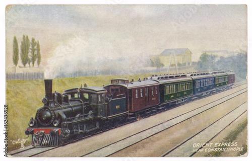 Orient Express Postcard. Date: 1907 © Archivist