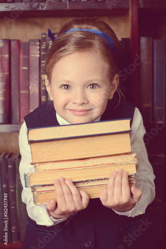 child with books Poster