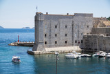 A view from the old town walls of St. John Fortress, now a maritime museum, Dubrovnik, Croatia - 162439758