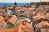 A view over the old town from the town walls of Dubrovnik, Croatia. - 162439960