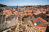 A view over the old town from the town walls of Dubrovnik, Croatia. - 162440195