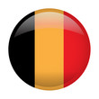 Isolated flag of Belgium on a button, Vector illustration