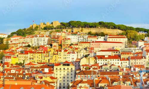 Fotobehang Palermo Lisbon Old Town, Portugal