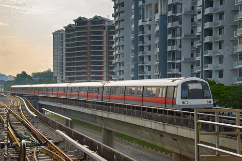Singapore metro train outdoor Poster