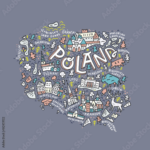 Fototapeta Map of Poland