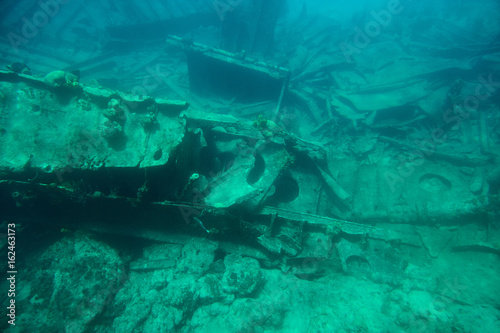 Ship wreck on botton sea