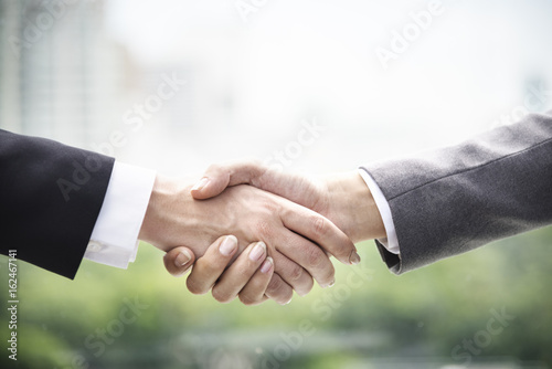 Handshake Businesswoman Colleagues Deal Concept