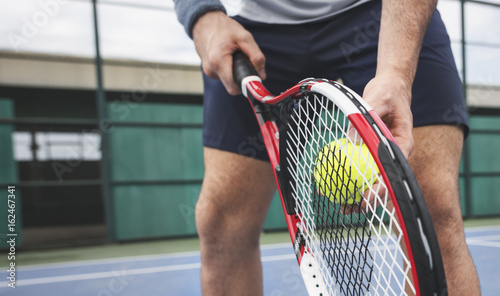 Tennis Sport Racket Racquet Athlete Match Concept