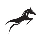 Horse Running and Jumping Simple Silhouette Illustration