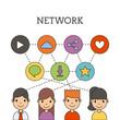 network people scenary icon vector illustration design graphic