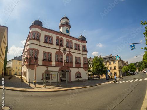 canvas print picture Rathaus von Hof an der Saale