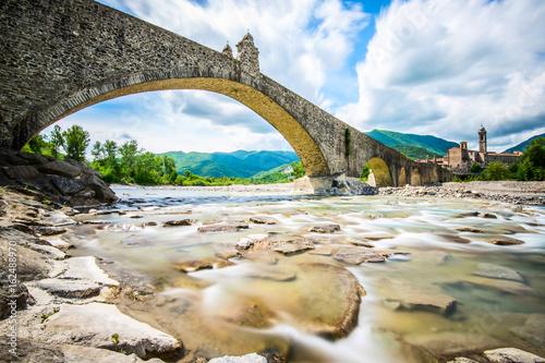 ancient medieval bridge - italian landscape Emilia Romagna Italy