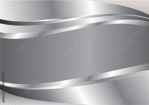 Silver wave abstract vector background